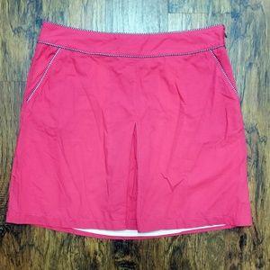 L.L. Bean Pleated Front Cotton Skirt 14P